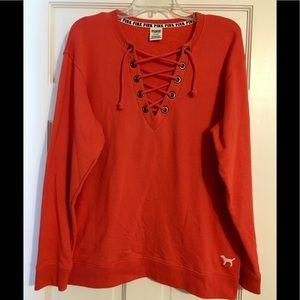 VS PINK Coral Pullover Sweatshirt
